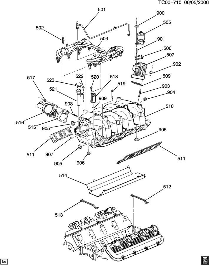 Tc on Buick 3800 V6 Engine Exploded View Of A