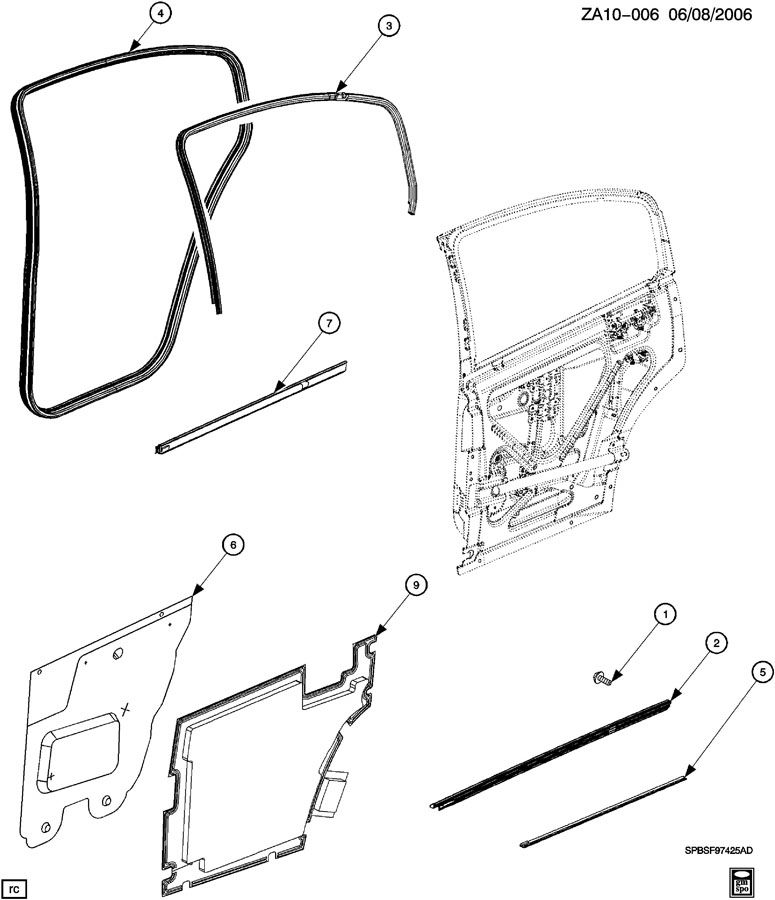 2005 chevrolet tailgate diagram