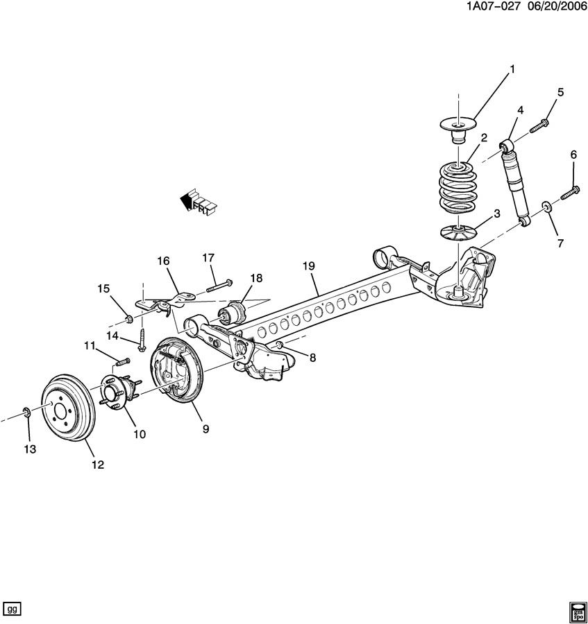 2007 chevy cobalt front suspension diagram