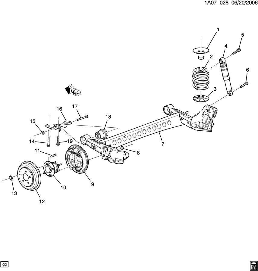 2009 Pontiac G5 Suspension: SUSPENSION/REAR