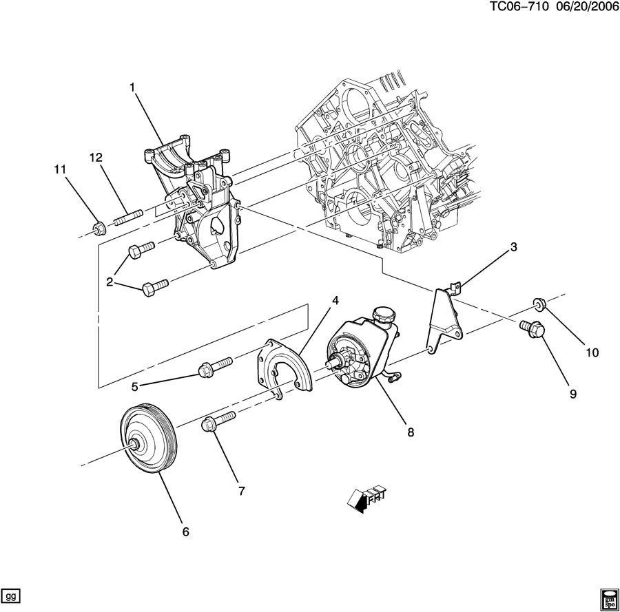 chevrolet silverado 3500 steering pump mounting
