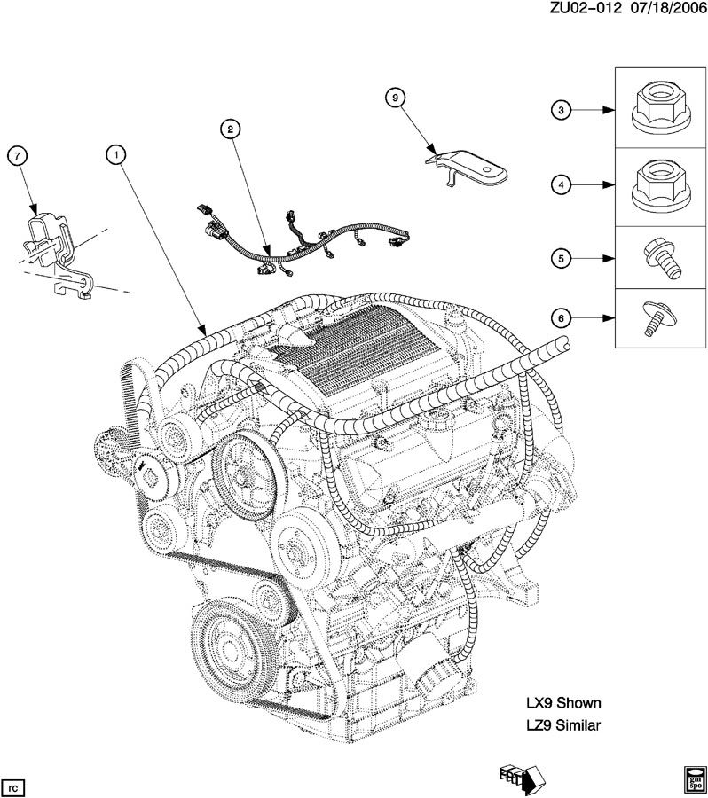 12590938 - Gm Harness Assembly  Injr Wiring