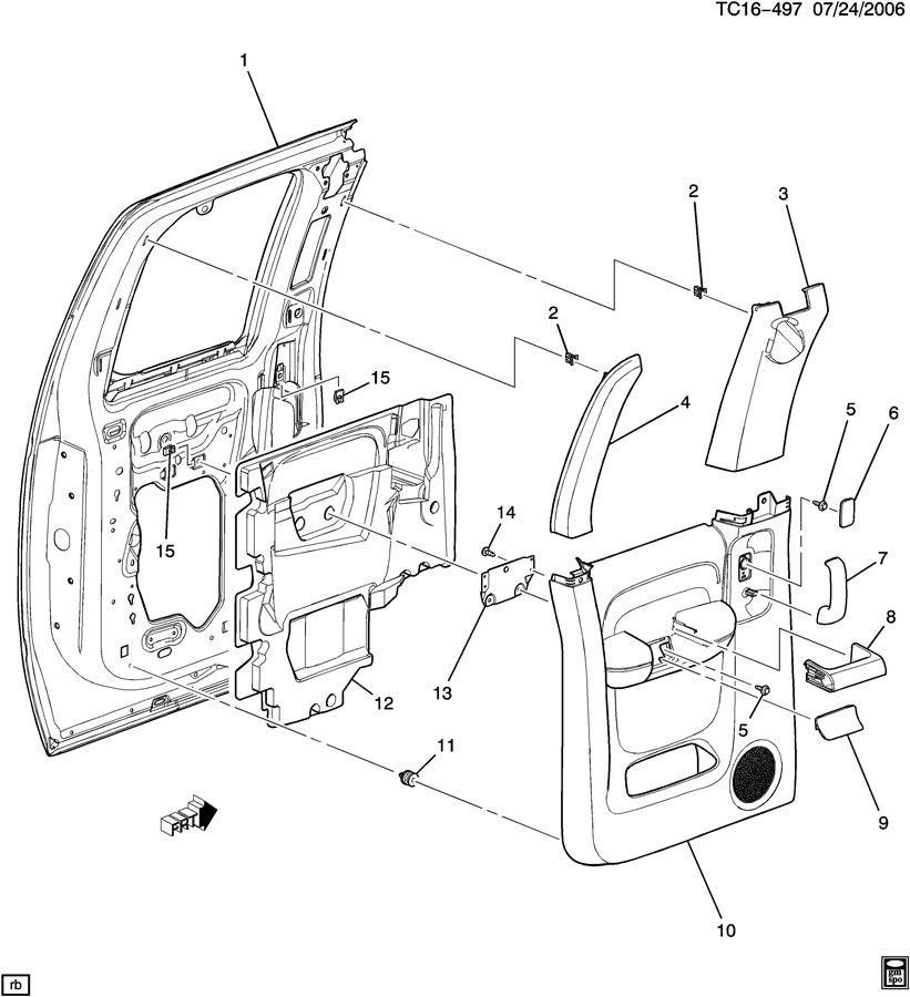 door trim  side rear