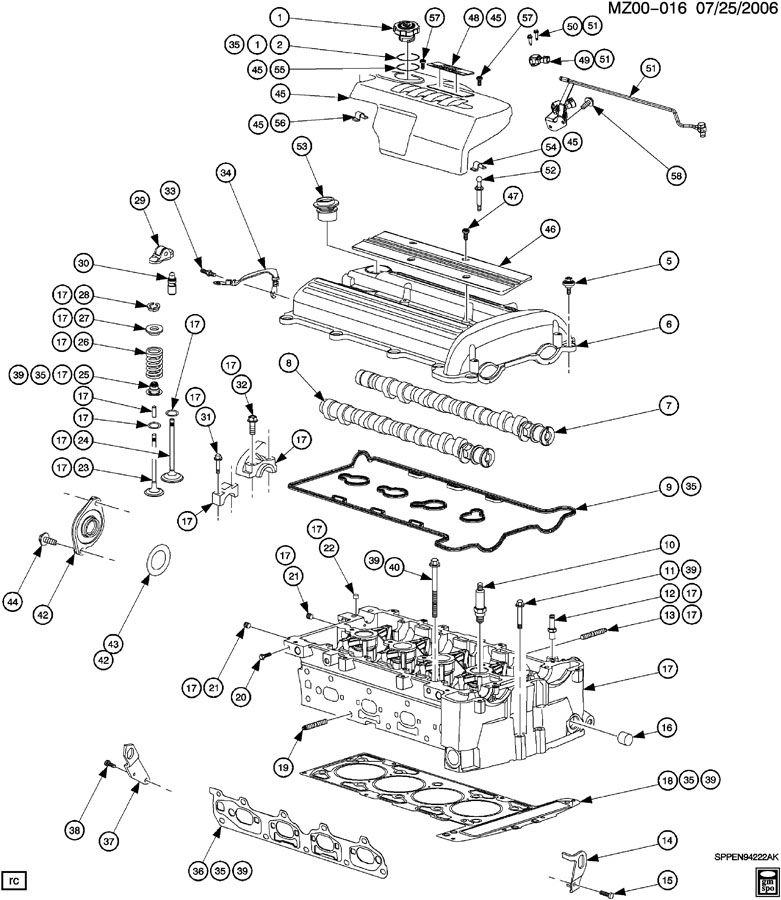 ecotec 2 2l dohc engine diagram