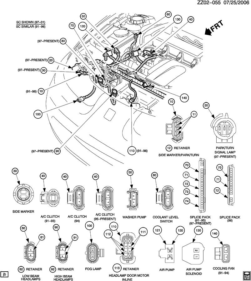 Saturn Sl Connector  Chassis Electrical  Engine Fuel