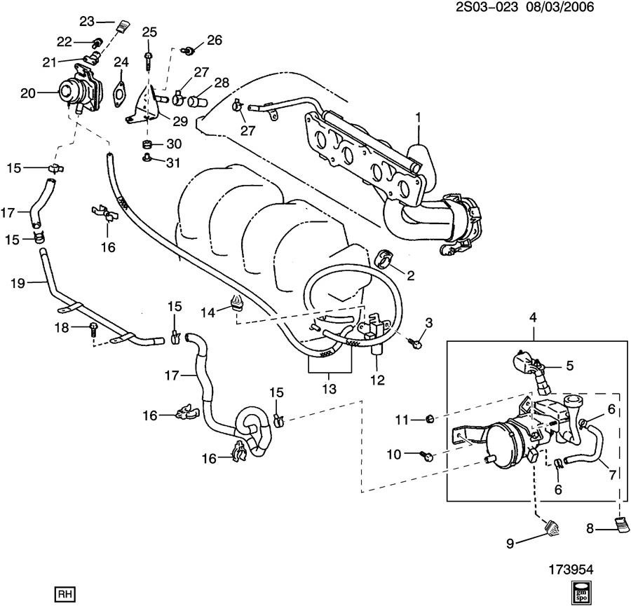 pontiac vibe emission controls secondary air injection