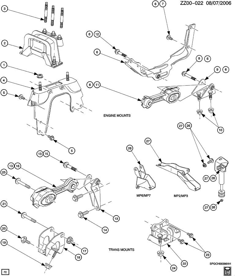 Diagram Of 2001 Saturn Sl2 Engine Mounts