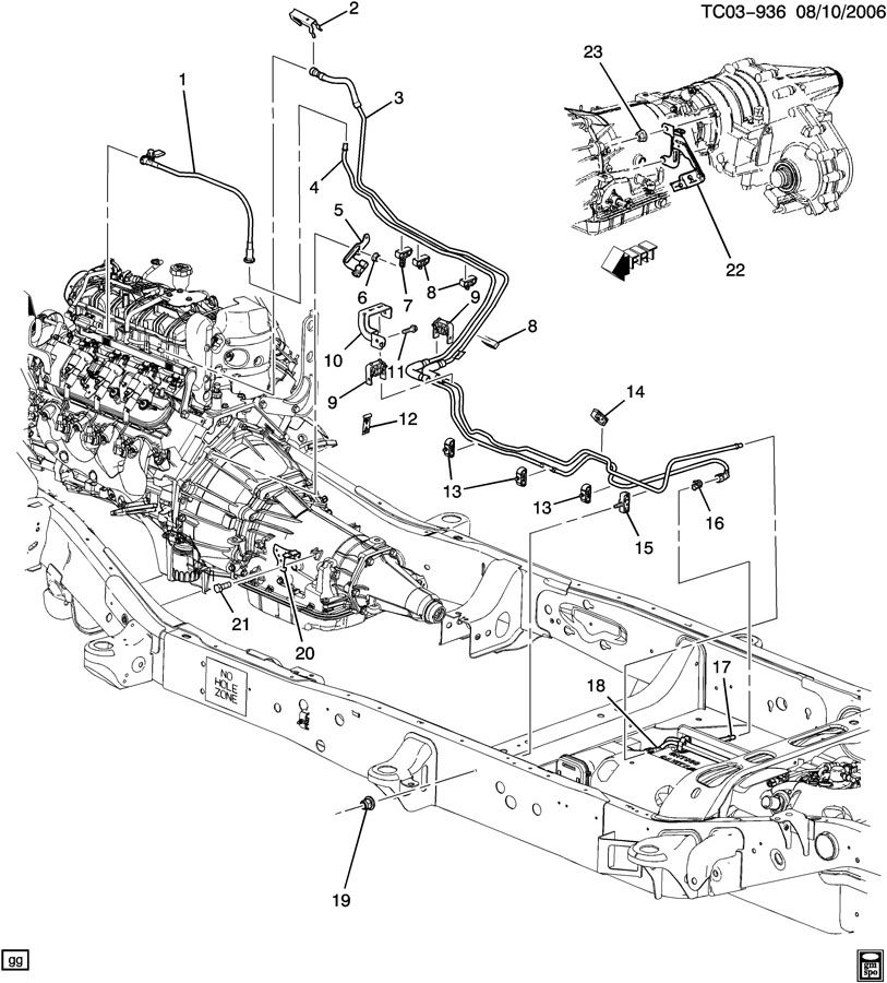 2011 Gmc Yukon Denali 4dr Bracket  Chassis  Engine Wiring