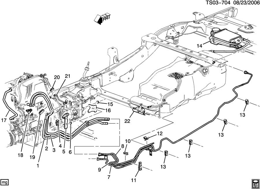 158361 Leaking Fuel Line on 2005 Chevy Equinox Cooling System Diagram