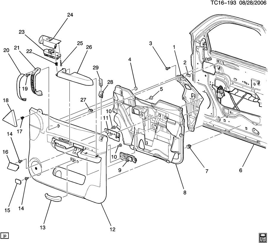 cadillac dts suspension diagram
