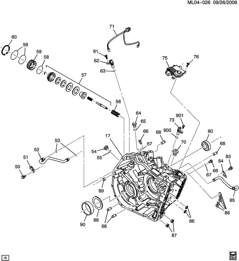 Chevrolet Equinox Piston Kit  Transmission Servo  U0026 Accumulator  Servono  Transmissioncase