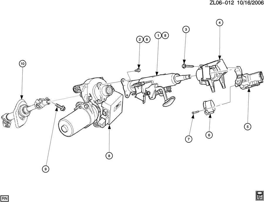 2004 saturn vue column kit  steering  column kit  strg