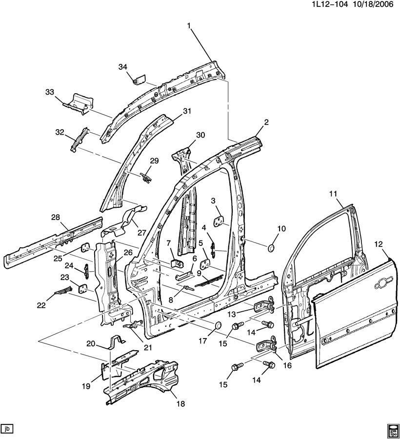 2007 pontiac torrent sheet metal  body part 2