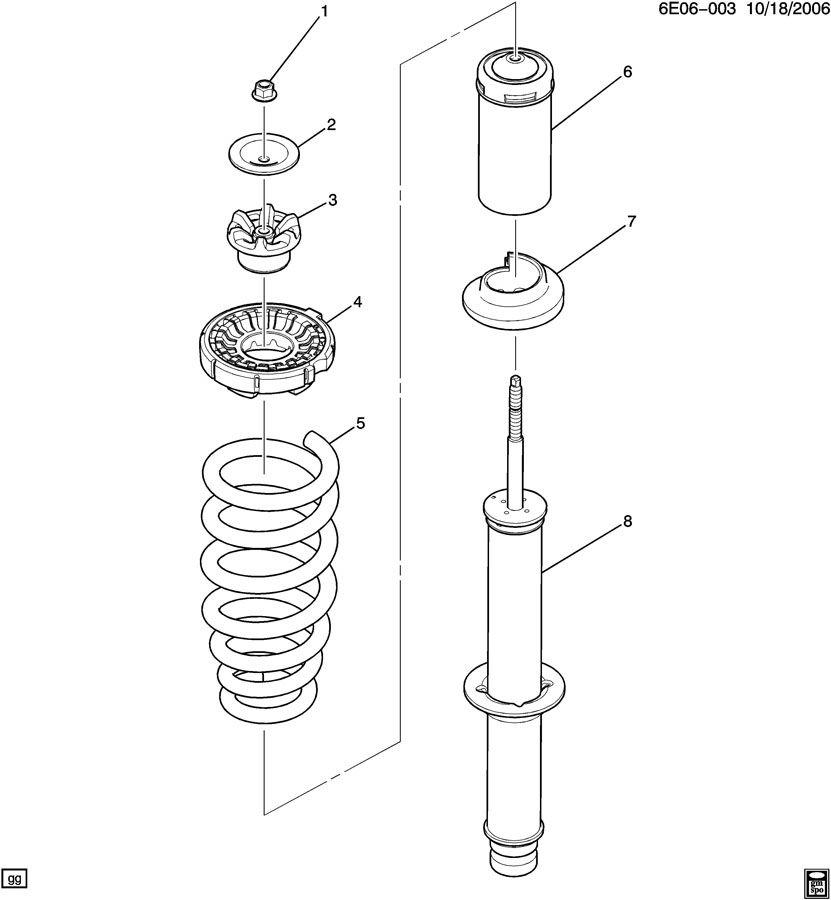 2005 cadillac sts absorber front shock spring. Black Bedroom Furniture Sets. Home Design Ideas