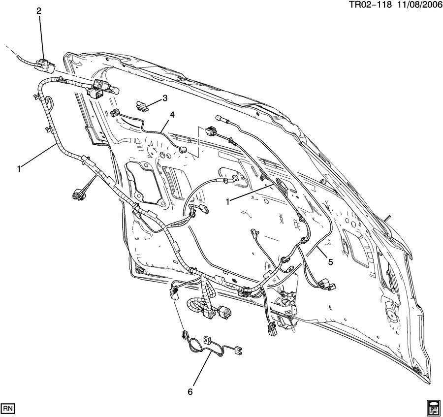 chevrolet traverse harness  chassis wiring  door and end gate electrical  harness  l  gate wrg