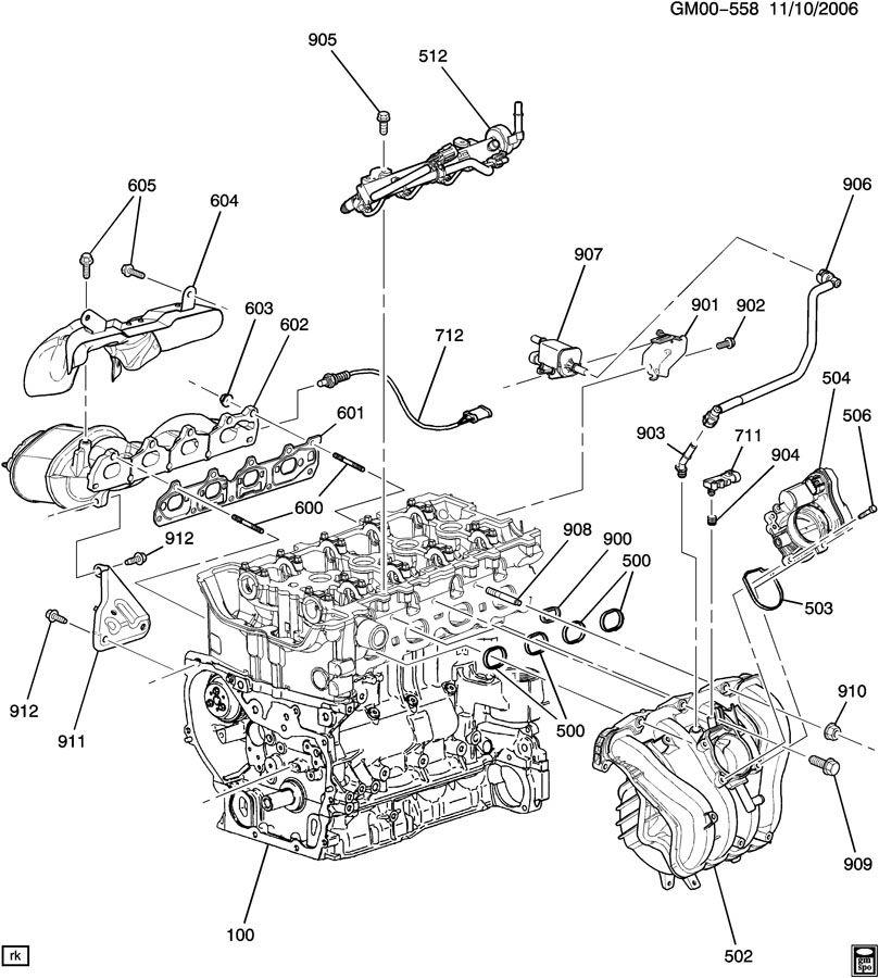 engine asm 2 4l l4 part 5 manifolds fuel related parts. Black Bedroom Furniture Sets. Home Design Ideas