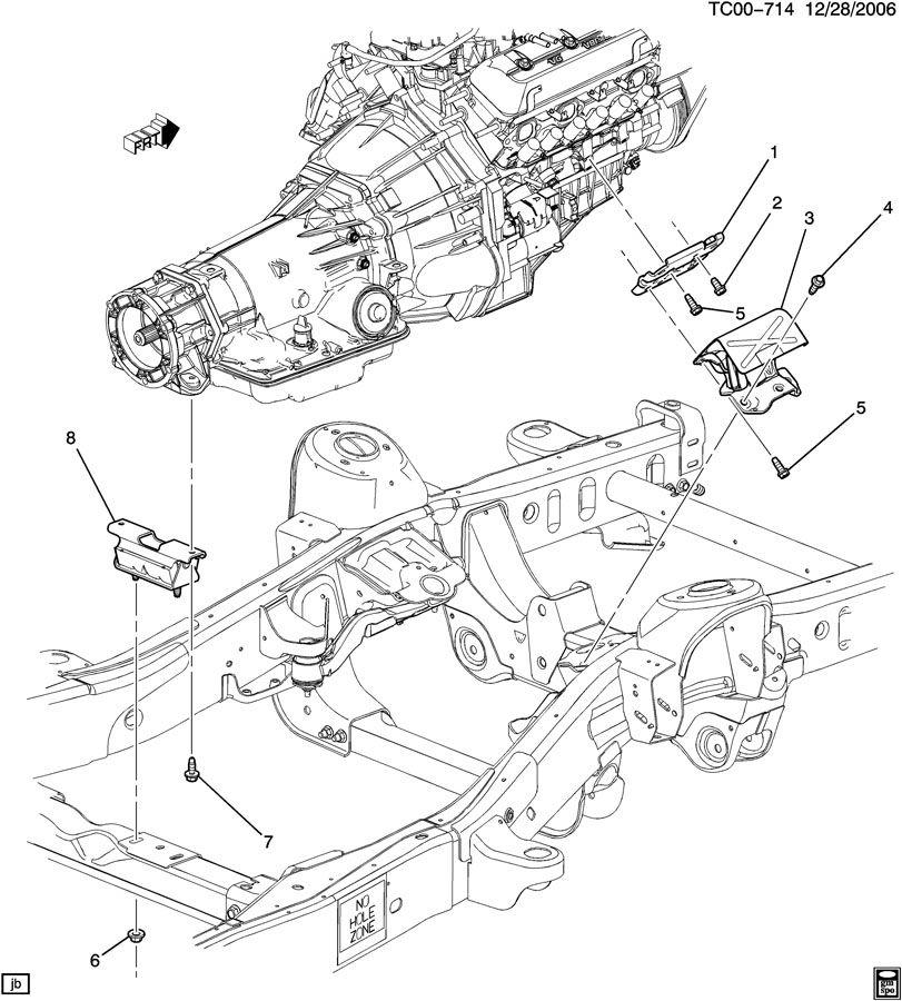 Engine Amp Transmission Mounting V6