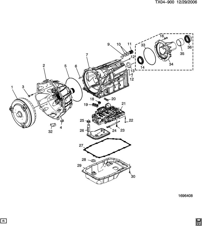 gmc 6l80 transmission pan