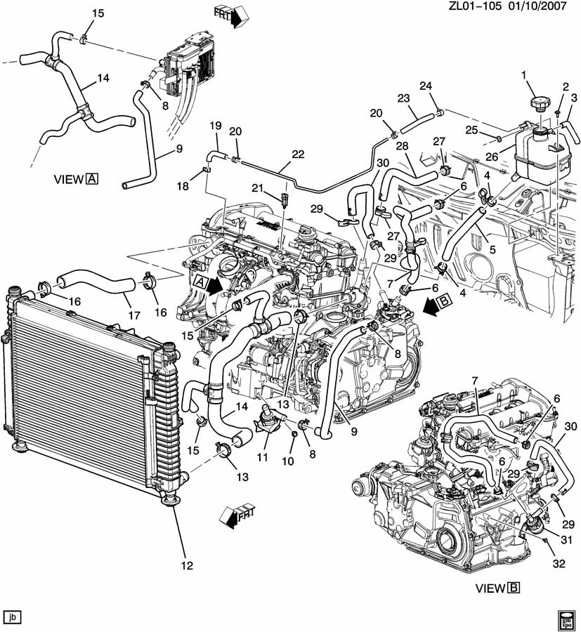 Service Manual How To Bleed Radiator On A 2009 Saturn Astra New 2005 2010 Gm1225257 Fits