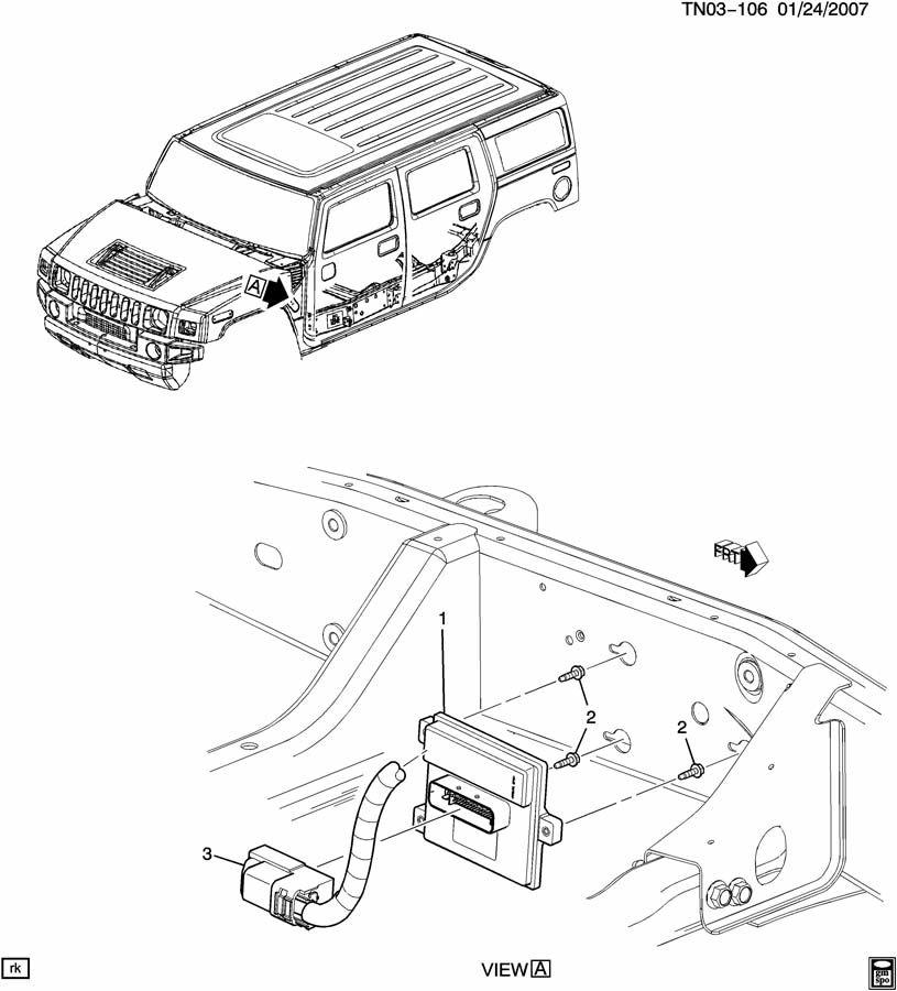 service manual  replace 2007 hummer h2 air bag module