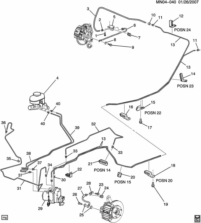 Diagram 1999 2004 Oldsmobile Alero Hydraulic Diagram Schematic