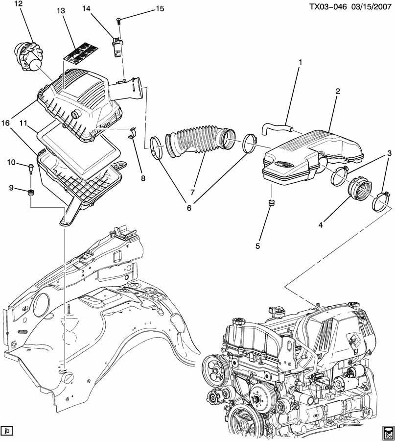 Chevrolet Colorado Hose  Engine Crankcase Ventilation