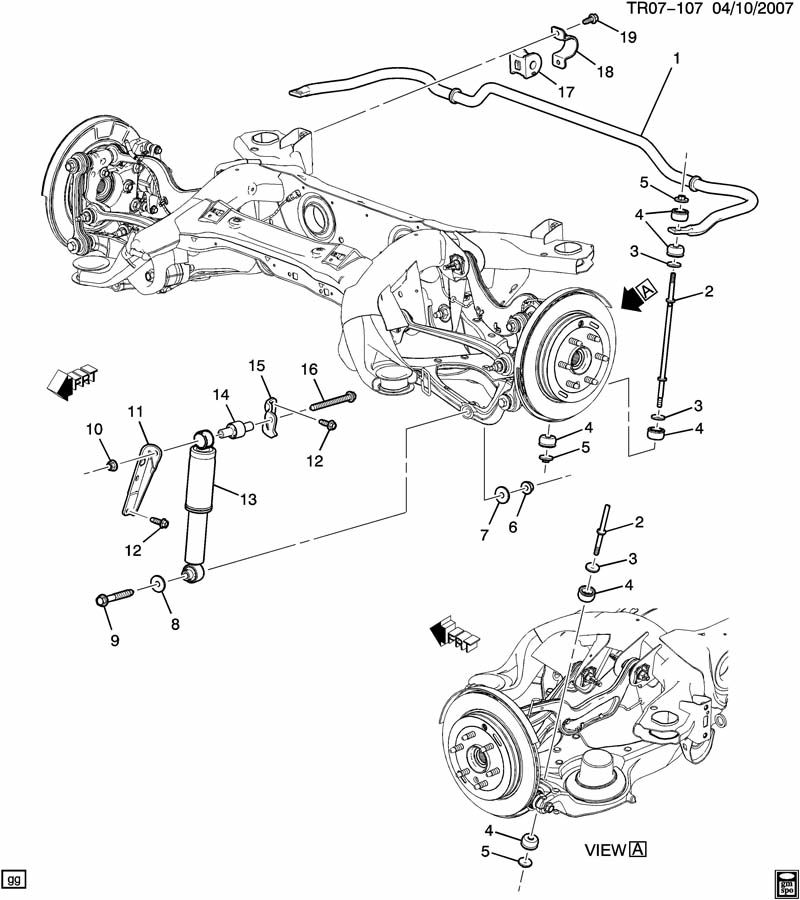 saturn outlook rear suspension diagram