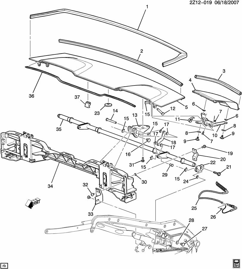 2007 pontiac g6 convertible top parts diagram  pontiac
