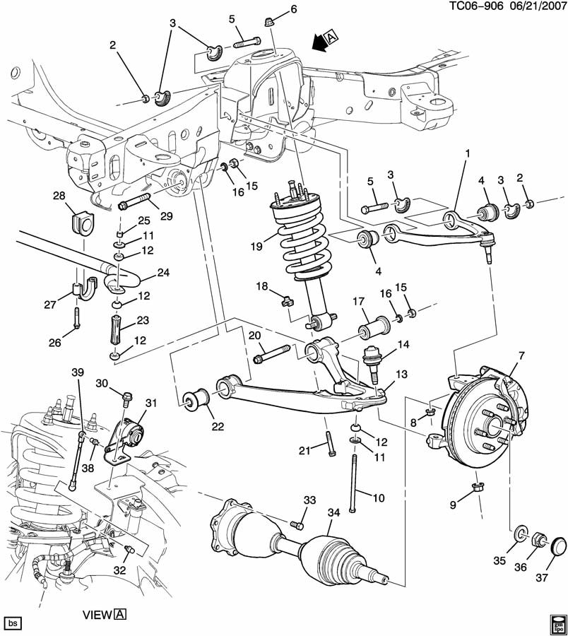 2003 S10 Front Suspension Diagram