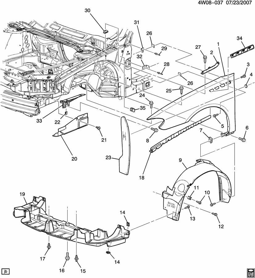 10349809 - gm shield  front fender inner wheel house  shield  eng sph