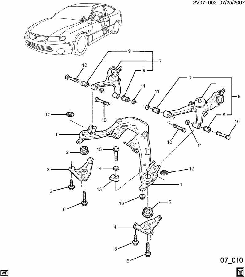 pontiac gto insulator  rear axle control arm  insulator  rr susp supt