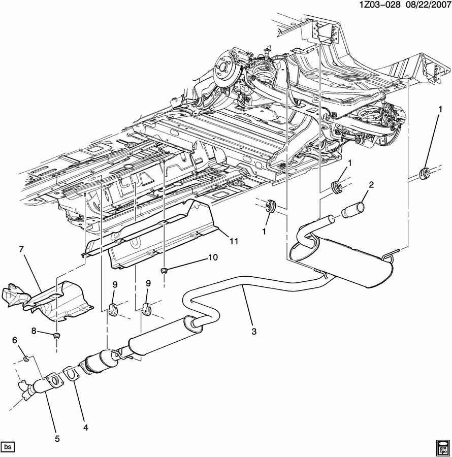 Chevrolet Malibu Gasket  Catalytic Converter  Gasket