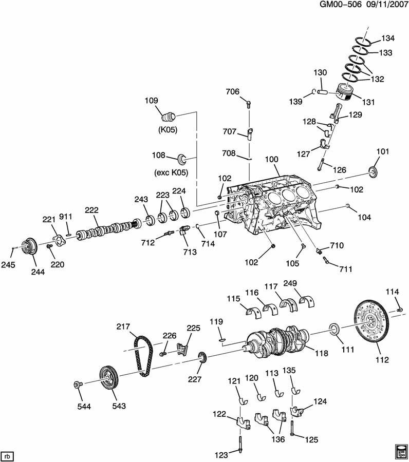 2007 Chevrolet Malibu Lt 4dr Plug  Engine Camshaft