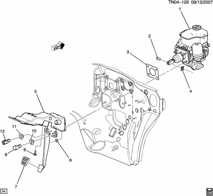 brake pedal  u0026 master cylinder mounting