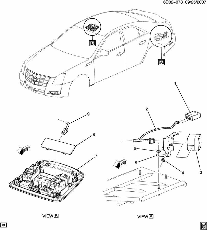 Cadillac CTS ALARM SYSTEM/ANTI THEFT