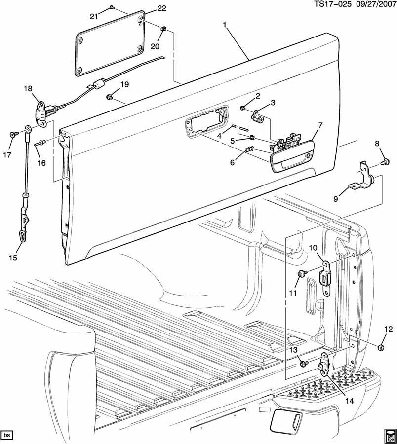 chevy colorado bed diagram