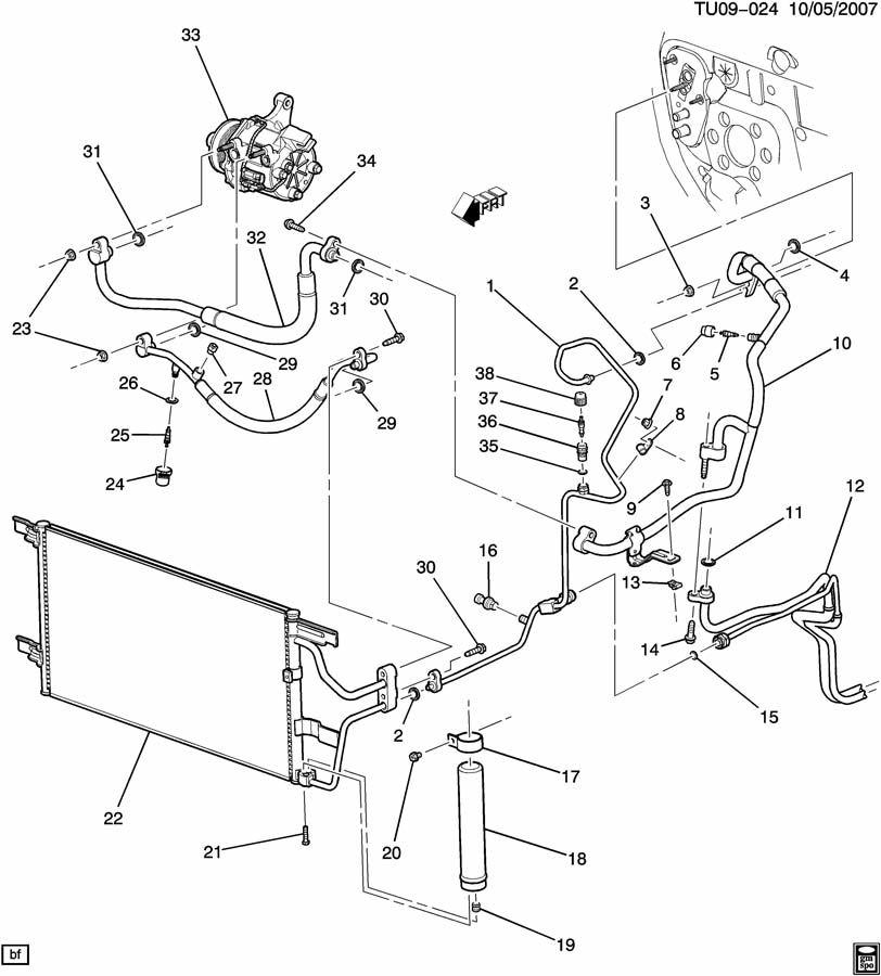 chevrolet uplander tube  air conditioning  a  c  evaporator