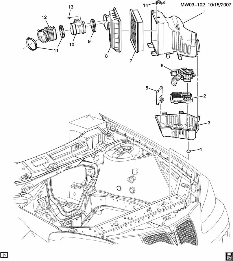 2006 Chevrolet Impala Clip  Air Cleaner  Clip  A  Cl Hsg  Clipacl  Bracketclipinsulator