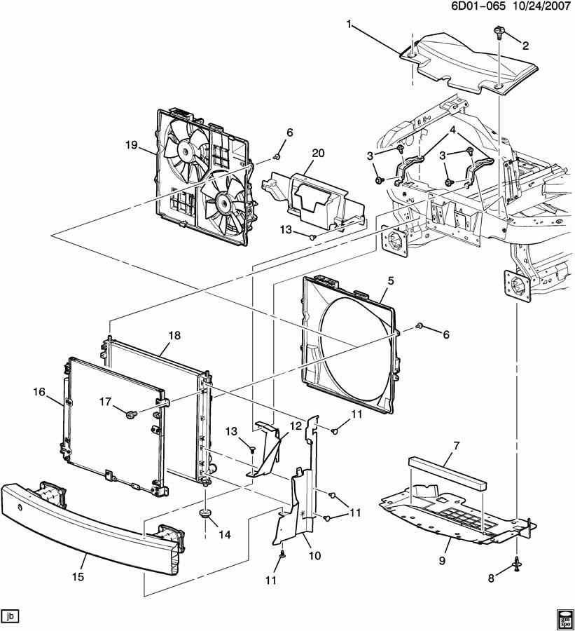 GM Seal. Radiator Support Mounting. Seal, Rad