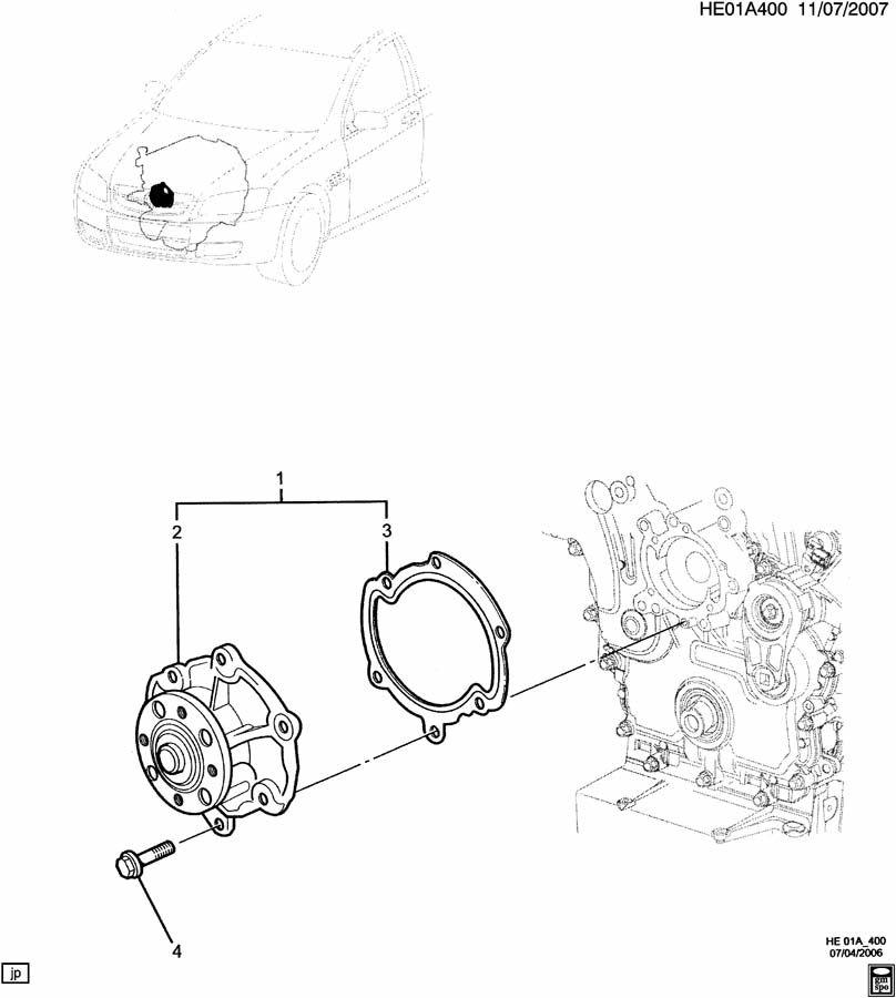 Pontiac G8 Engine Asm 3 6l V6 Coolant Pump