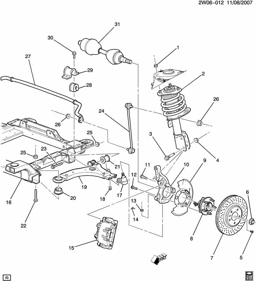Pontiac Grand Prix Bolt. Shock absorber/strut. Steering knuckle. Boltsknustrut, strutstrut ...