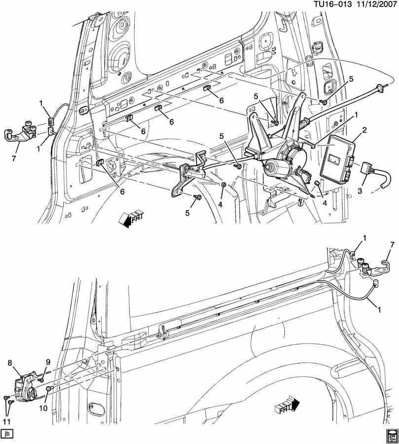 chevrolet uplander door hardware side rear sliding part 3. Black Bedroom Furniture Sets. Home Design Ideas