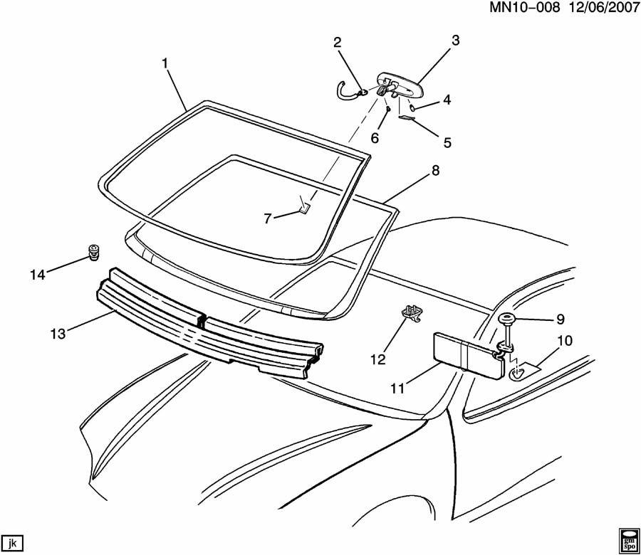 chevrolet malibu windshield trim  u0026 hardware