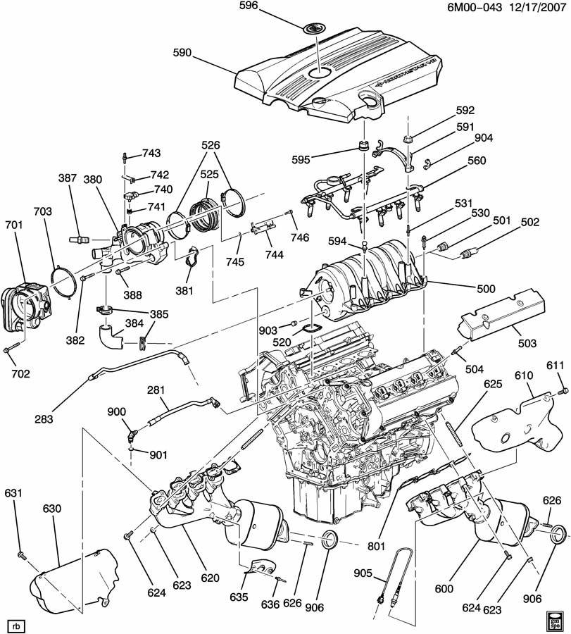Cadillac Engine Fuel Intake Manifold. DUCT