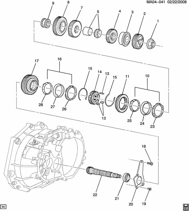 2007 Chevrolet Cobalt Insert  Transmission Synchronizer  Insert  1st  U0026 2nd Gr Syn
