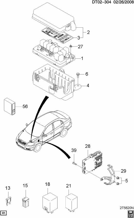 Chevrolet Aveo Module Box Fuse  U0026 Relay