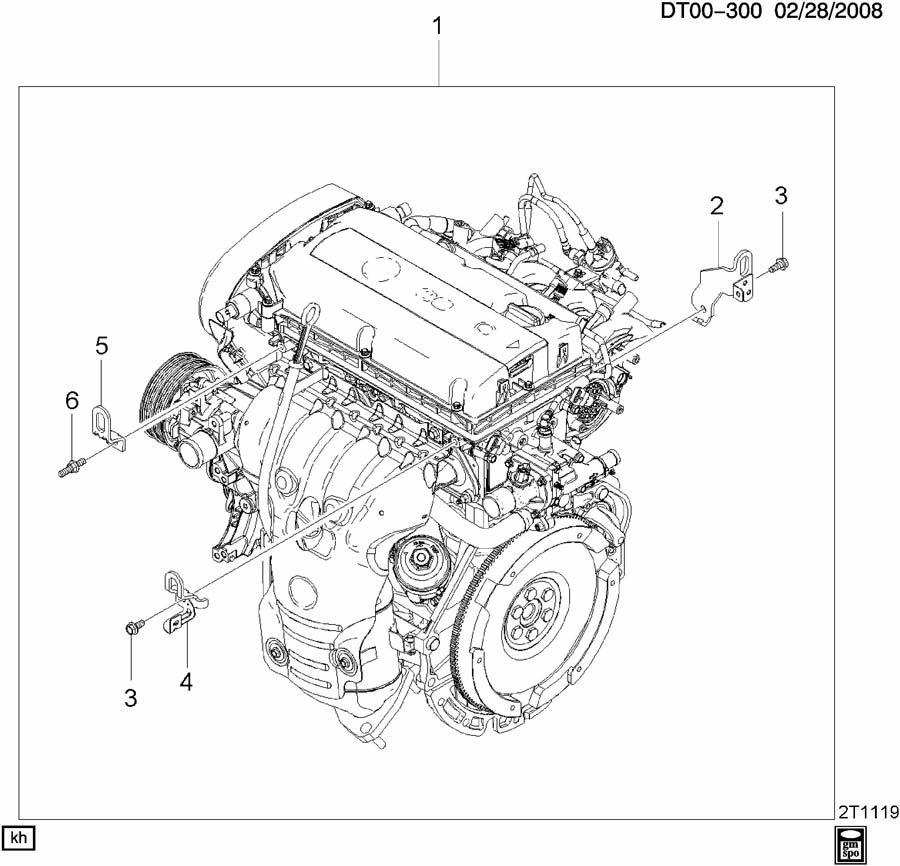 Chevrolet Aveo Bracket  Engine Lift  Bracket  Eng Lift Frt