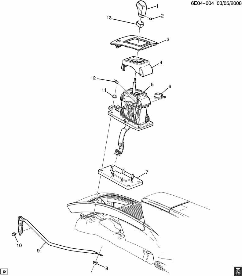Cadillac Srx Link  Transmission Shift Shaft Lever