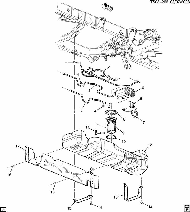 Chevrolet Trailblazer Pipe  Evaporation Emission System