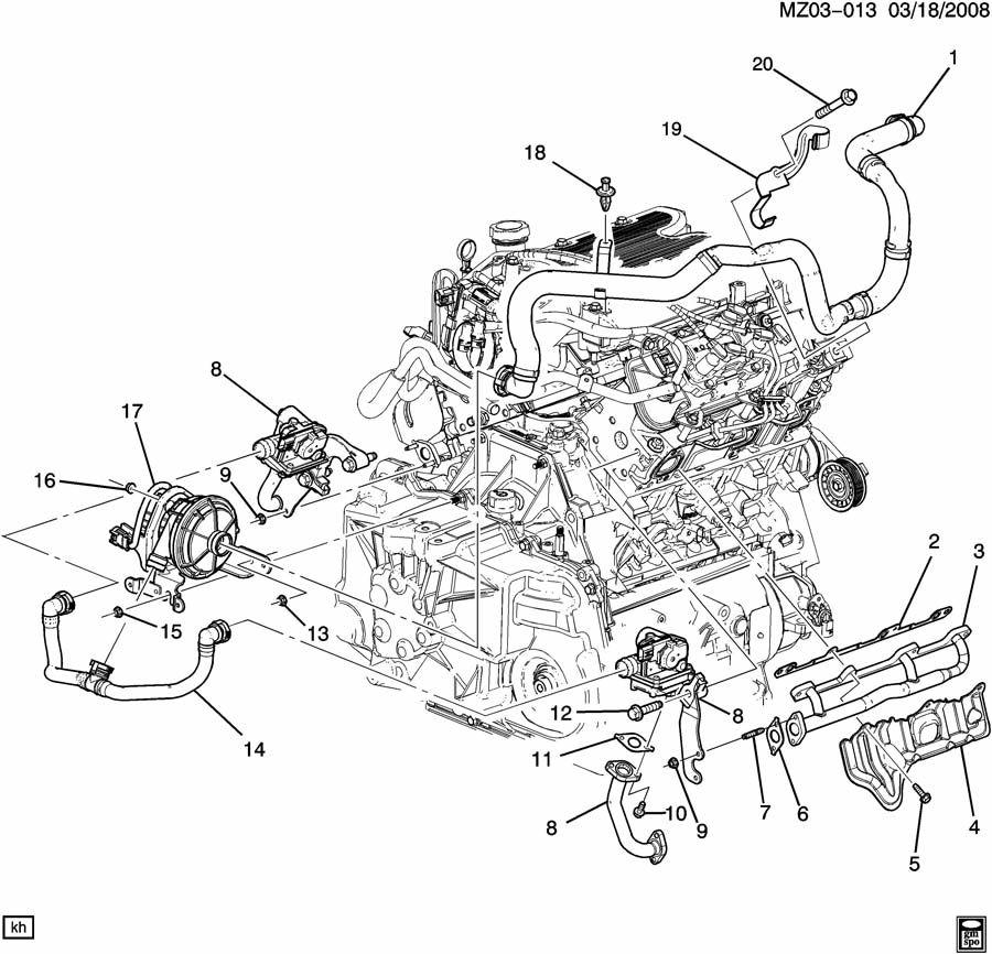 Pontiac G6 Valve  Emission Control System  Valve  Secd Air